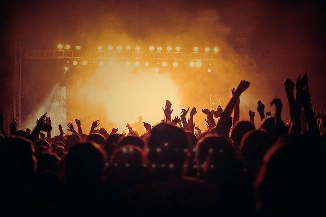 multitud de personas en un concierto